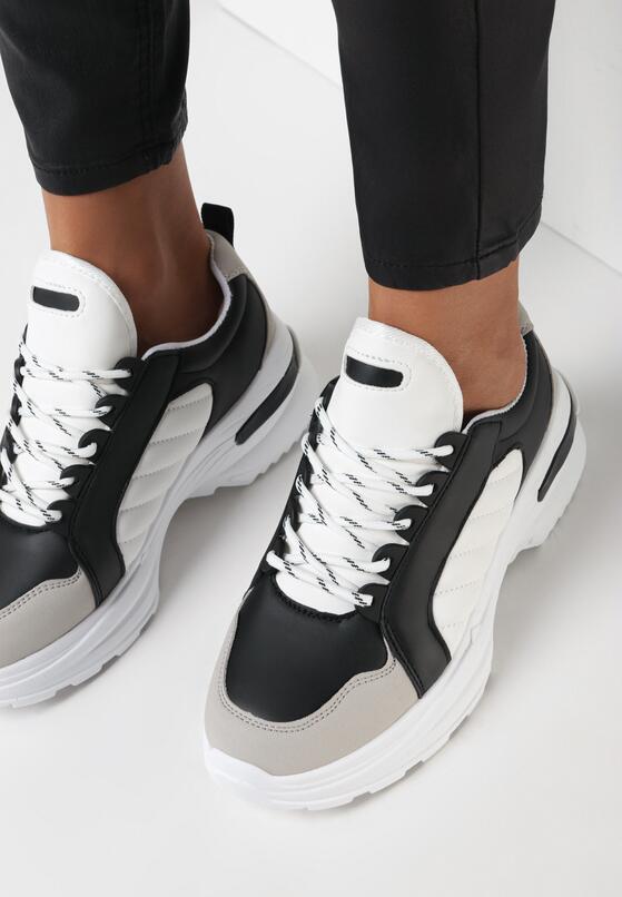 Biało-Czarne Sneakersy Hyneh