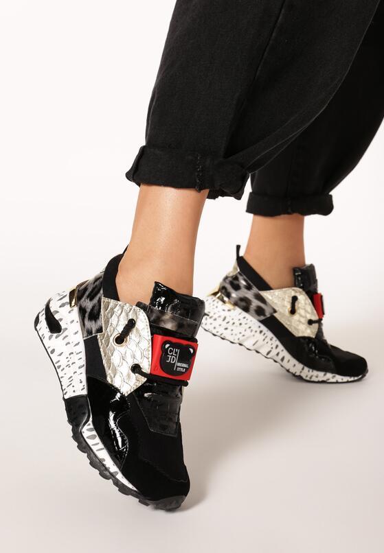Czarno-Złote Sneakersy Livesey
