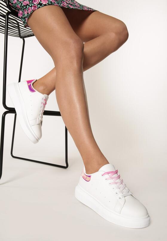 Biało-Fuksjowe Sneakersy Pop Of Colour