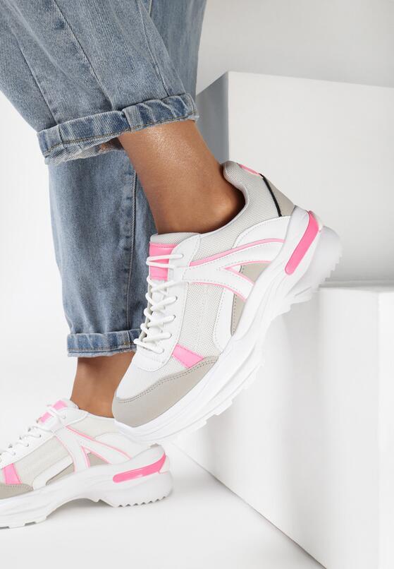 Biało-Różowe Sneakersy Molmellia