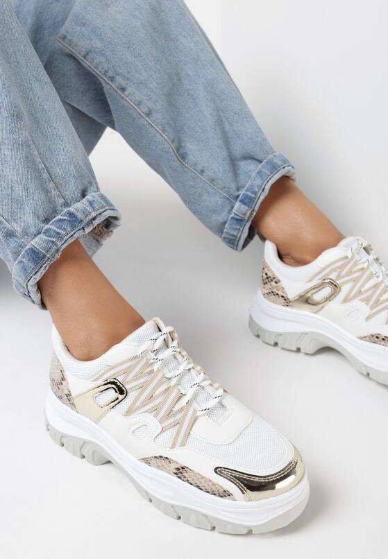 Beżowe Sneakersy Foggyvine