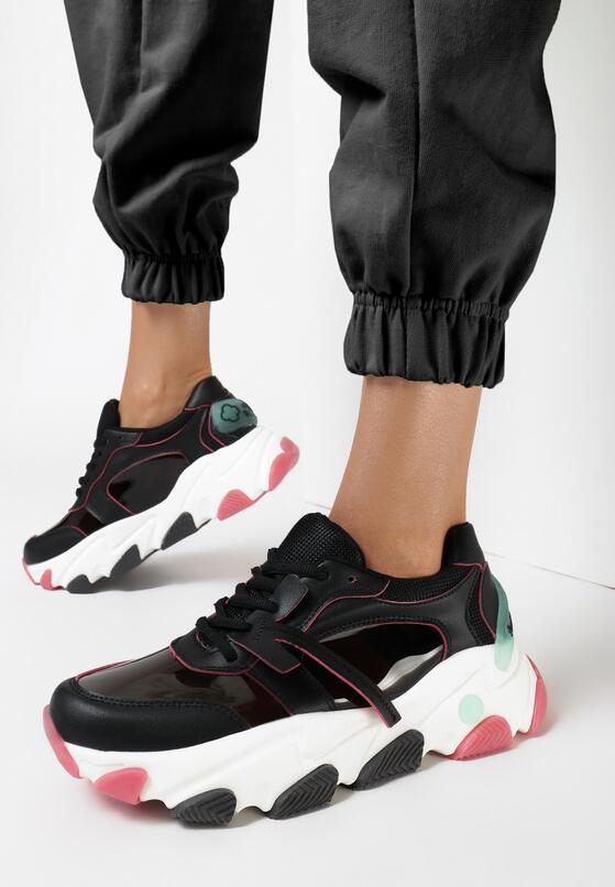 Czarne Sneakersy Evimellia