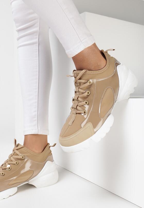 Beżowe Sneakersy Bathaphaura