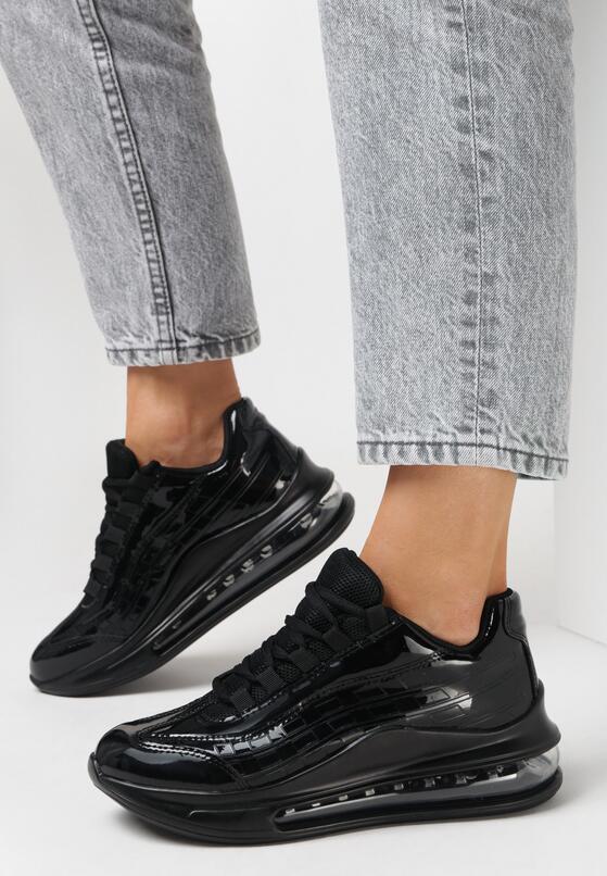 Czarne Sneakersy Pardia
