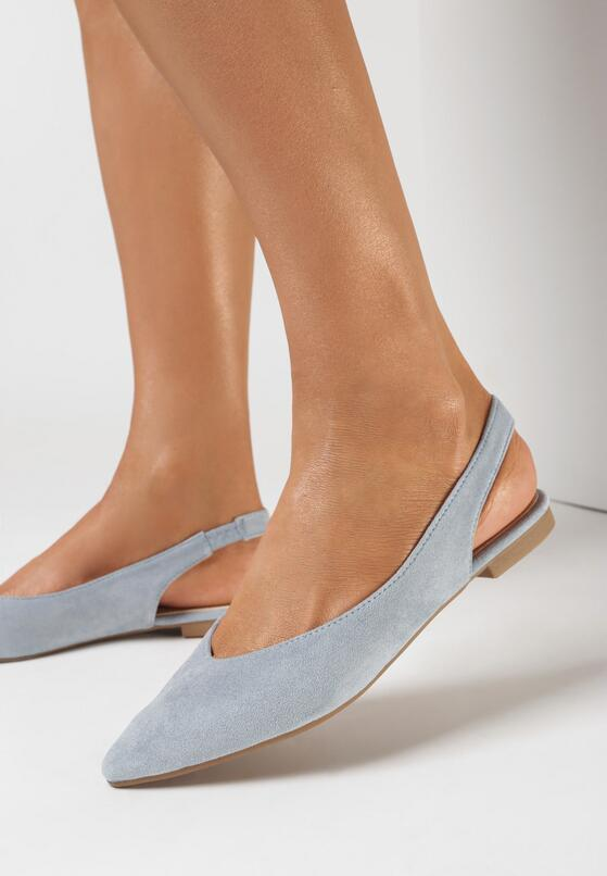 Niebieskie Pudrowe Sandały Arrilla