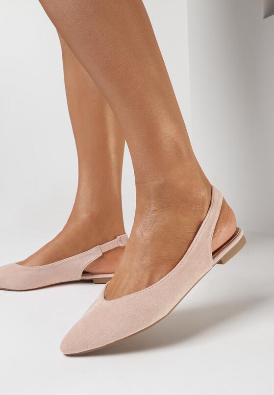 Różowe Pudrowe Sandały Arrilla