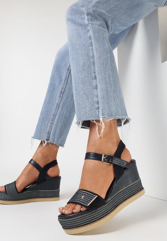 Granatowe Sandały Amalikea