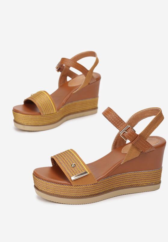 Camelowo-Żółte Sandały Amalikea