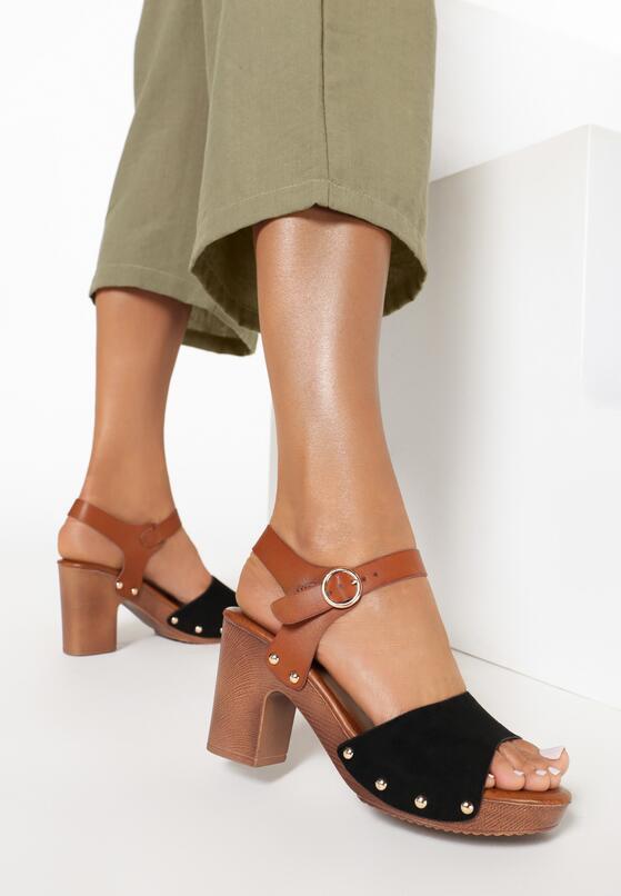 Czarne Sandały Aegasura