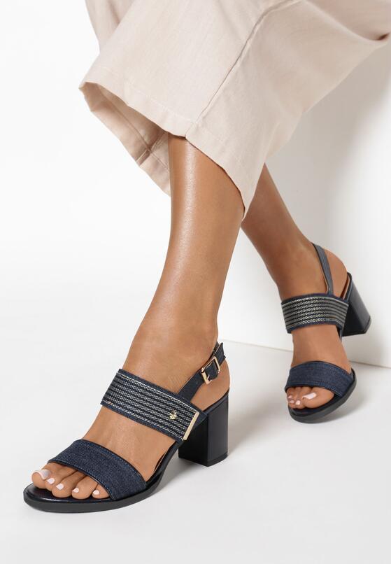 Granatowe Sandały Salonise