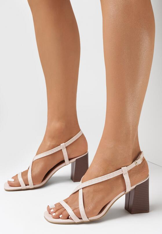 Różowe Sandały Charelia
