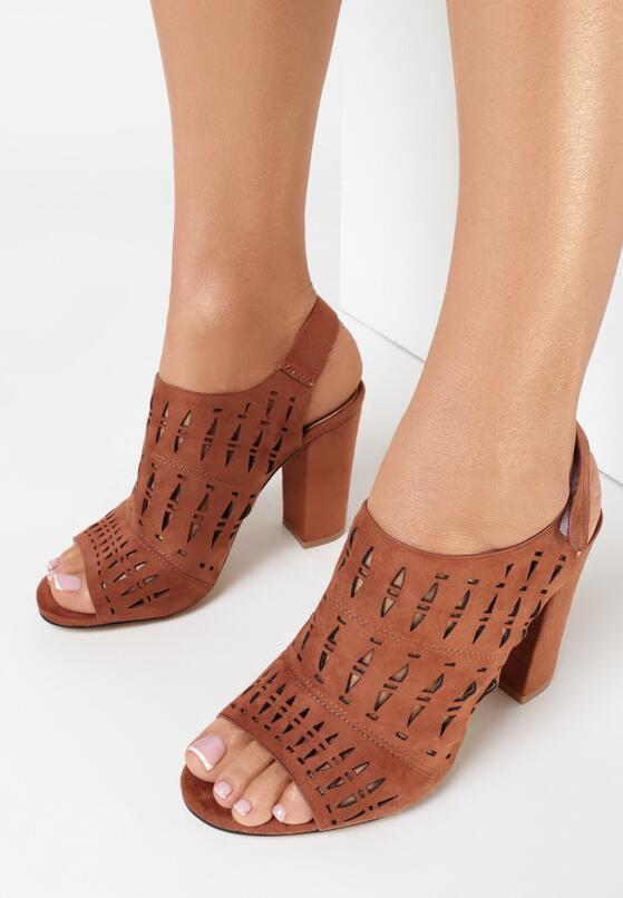 Brązowe Sandały Euphelea
