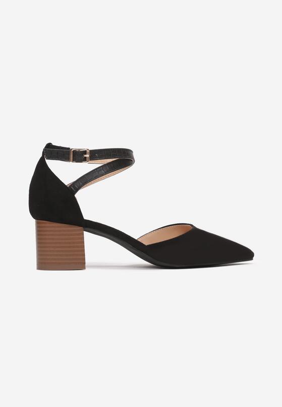 Czarne Sandały Phriete