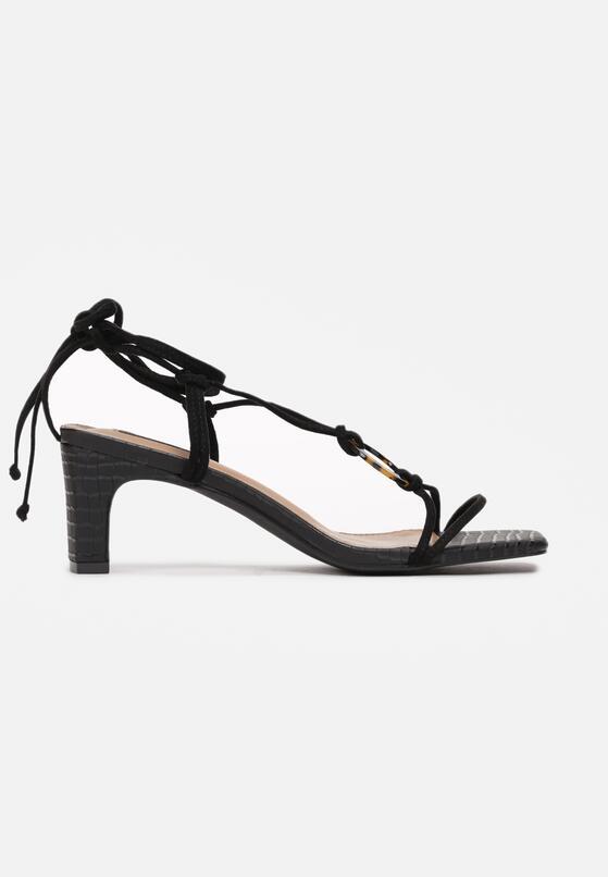Czarne Sandały Avameda