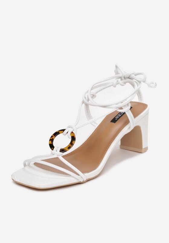 Białe Sandały Avameda