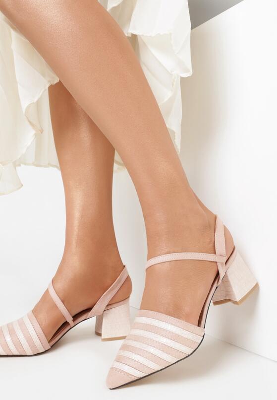 Różowe Sandały Diafer