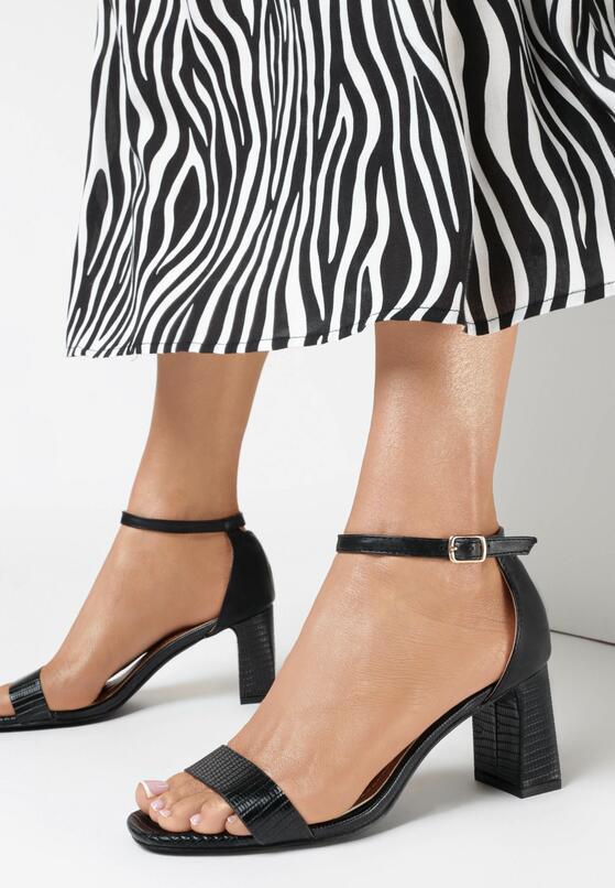 Czarne Sandały Nedanos