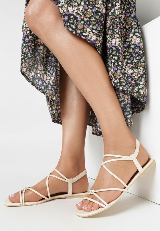 Jasnobeżowe Sandały Nautinoe