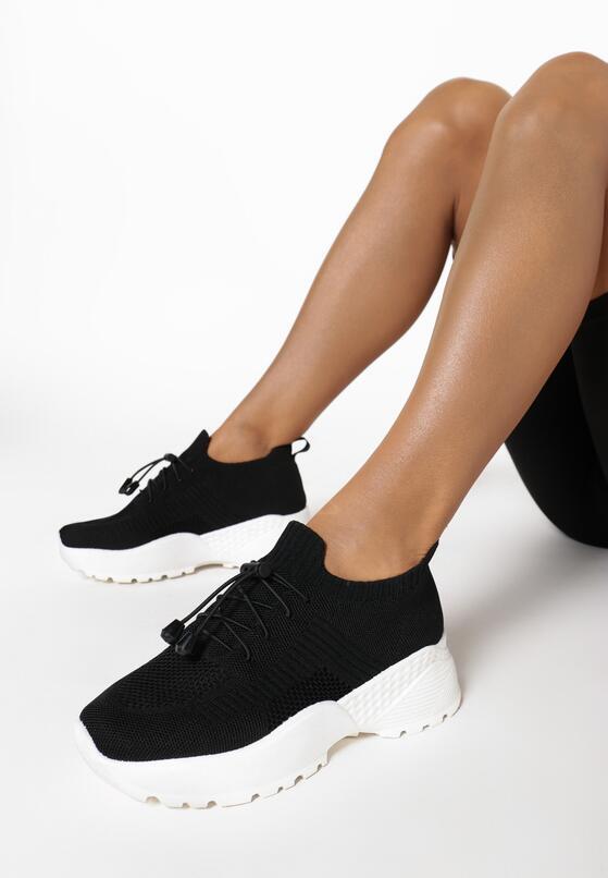 Czarne Sneakersy Amaliteia