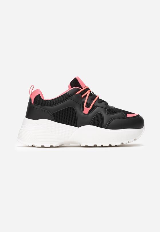 Czarne Sneakersy Acalenia