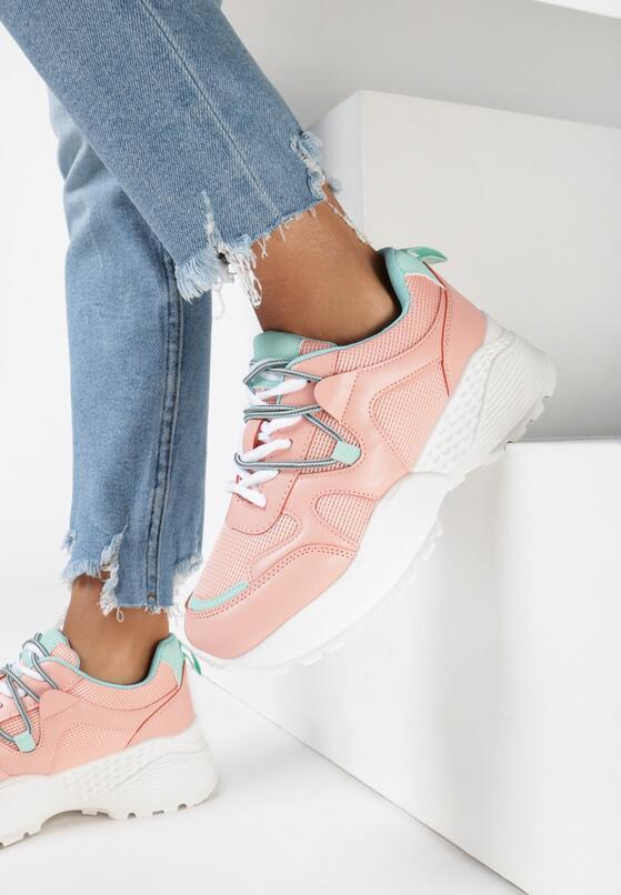 Różowe Sneakersy Acalenia