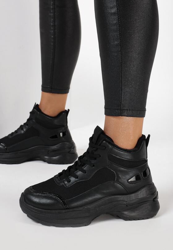 Czarne Sneakersy Iphasa