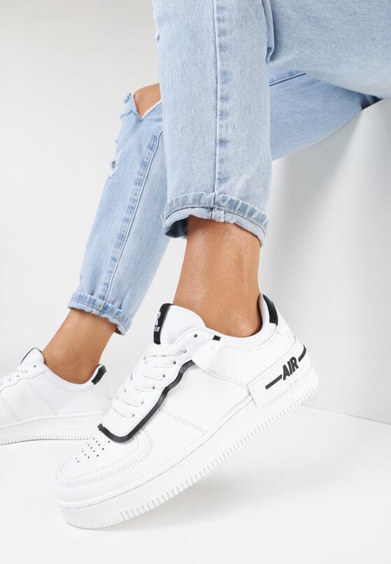 Biało-Czarne Buty Sportowe Melome