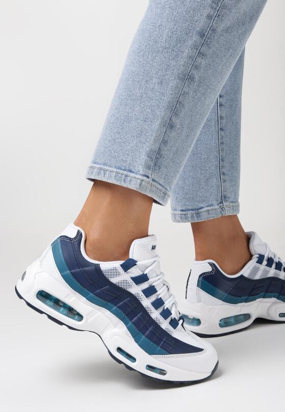 Biało-Granatowe Buty Sportowe Caliseise