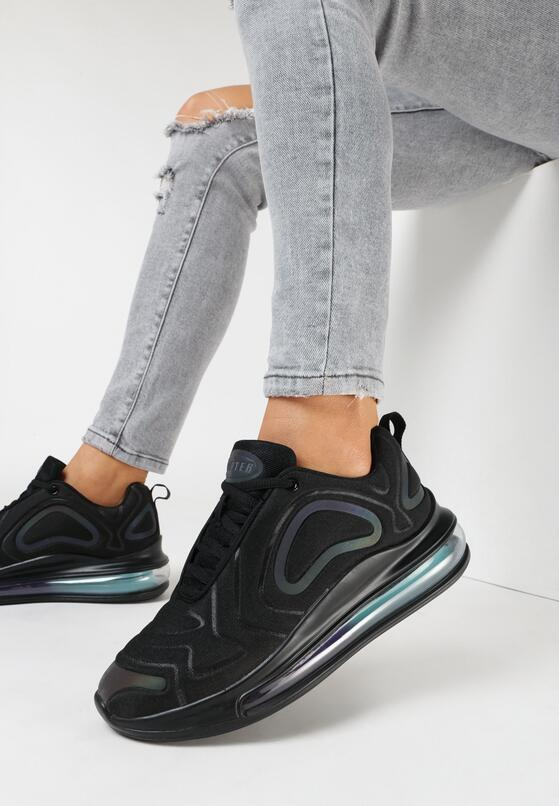 Czarne Holograficzne Sneakersy Ethemisa