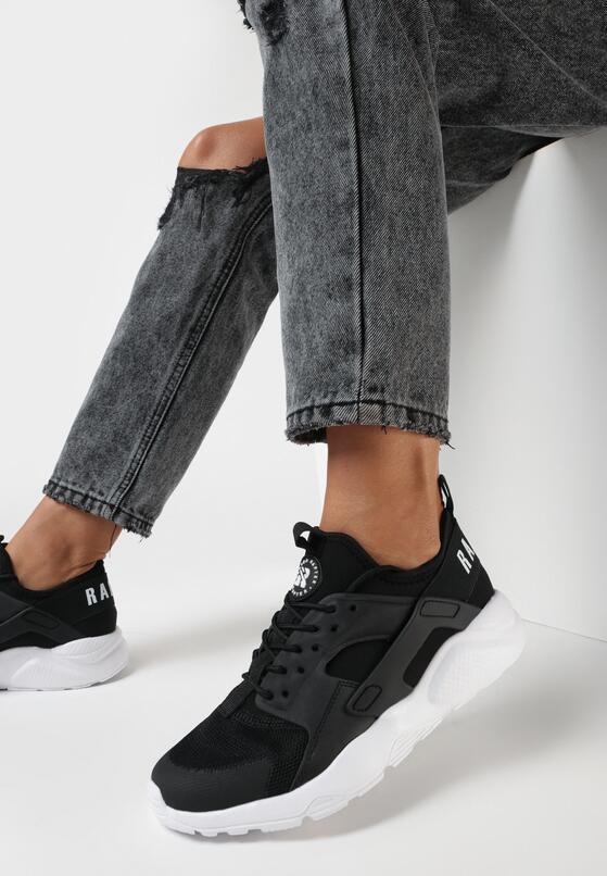Czarno-Białe Buty Sportowe Nemoryla