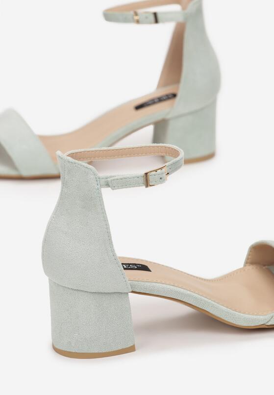 Miętowe Sandały Loreria