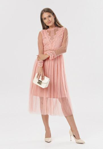 Jasnoróżowa Sukienka Describi