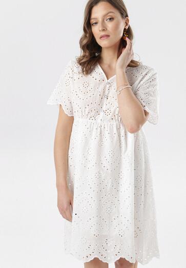 Biała Sukienka Delmaneh