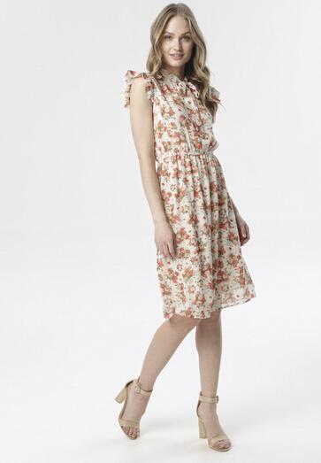 Kremowa Sukienka Calirelia