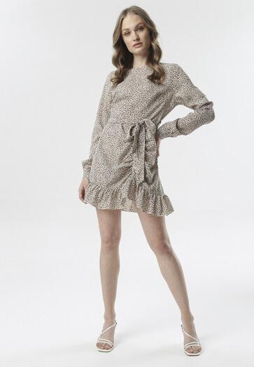 Beżowa Sukienka Brilin