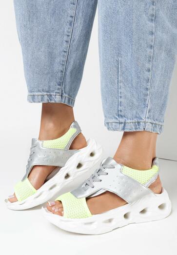 Limonkowe Sandały Miraxie
