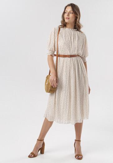 Kremowa Sukienka Loraida