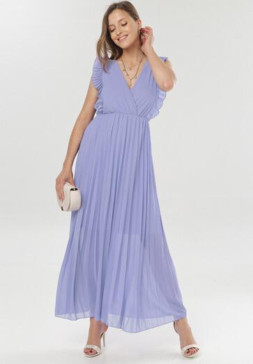 Ciemnofioletowa Sukienka Elulia