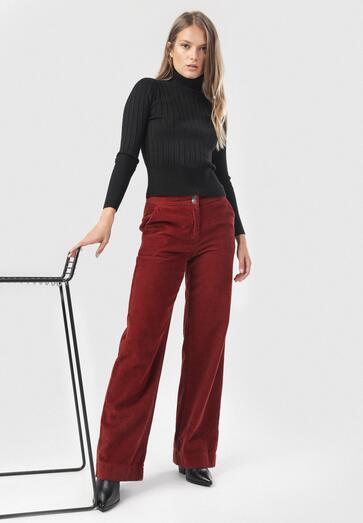 Bordowe Spodnie Talihaneh