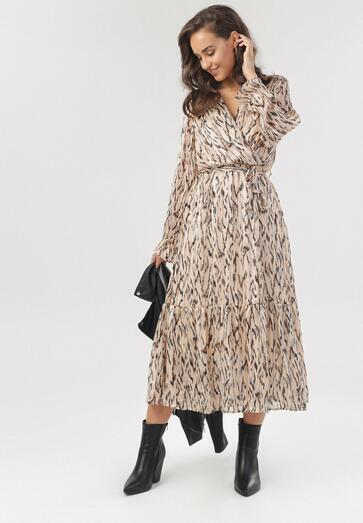 Beżowa Sukienka Eulimene