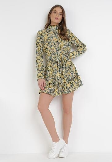 Żółta Sukienka Erfir