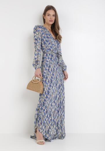 Niebieska Sukienka Aethimellia