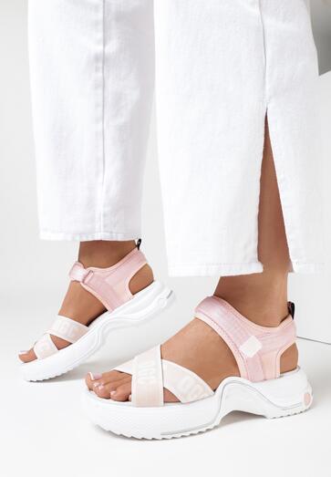 Różowe Sandały Calidanea