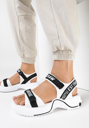 Biało-Czarne Sandały Chelrian