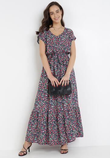 Granatowa Sukienka Neadorise