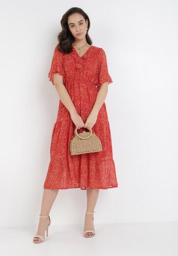 Czerwona Sukienka Nereibelle