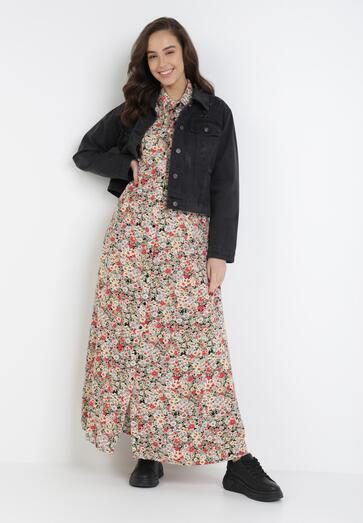 Beżowa Sukienka Daeithe