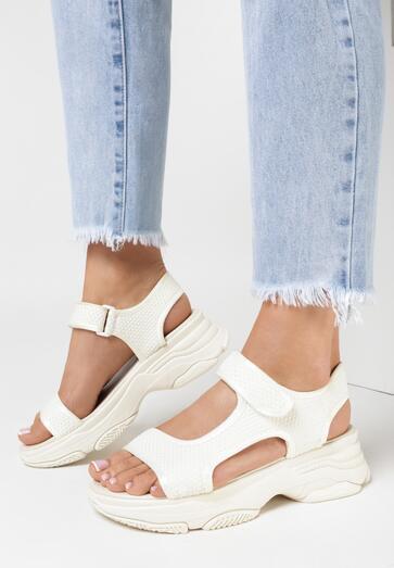 Beżowe Sandały Olithia