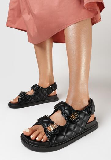 Czarne Sandały Zreit