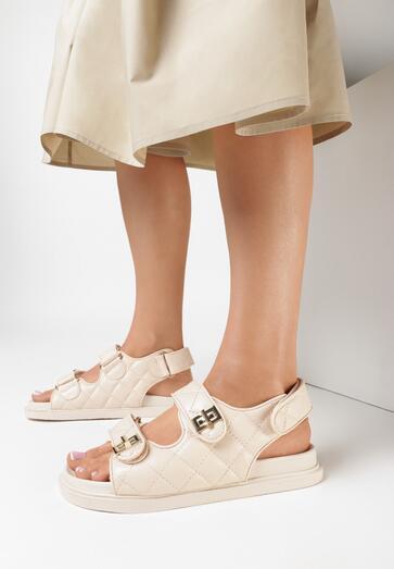 Beżowe Sandały Zreit